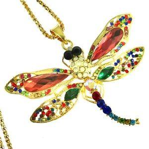 Betsey Johnson Jeweled Dragonfly Necklace